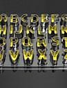 bakeware högkvalitativt rostfritt stål 26pcs brev formade kakor mögel tårta&kakmått
