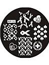 1 Abstrait Tampons Ongles  Modele d\'image Plaques Pochoir