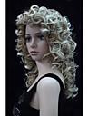 nytt mode charmiga 50cm strawberry blond mix blond spets kvinnors lockig syntetisk peruk