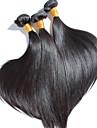 3 st / mycket hög kvalitet brasiliansk rakt hår, ingen utgjutelse, ingen härva 100% obearbetat jungfru människohår
