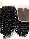 8-22inch Noir Dentelle frontale Boucle Cheveux humains Fermeture Marron clair Dentelle Suisse 30g - 55g gramme Cap Taille