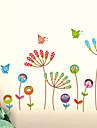 väggdekorationer väggdekaler, fjäril blomma pvc väggdekorationer