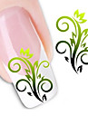 Blomma/Abstrakt - Finger - 3D Nagelstickers - av Andra - 1 - styck 10.5X7X0.1 - cm