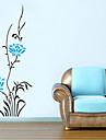 väggdekorationer Väggdekaler, blå blomma pvc väggdekorationer