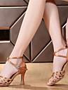 Chaussures de danse(Bleu Marron Autre) -Non Personnalisables-Talon Bobine-Satin-Latine