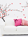 Botanical Romance Florals Wall Stickers Plane Wall Stickers Decorative Wall Stickers Material Re-Positionable Home Decoration Wall Decal