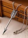 Bărbați Coliere cu Pandativ Aliaj Heart Shape Aripi / Pene Argintiu Bijuterii Zilnic Casual 1 buc