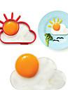 soleil anneau forme de nuage d\'oeuf pour le petit dejeuner, des ustensiles de cuisine de moule d\'oeuf, silicone, l10 * * W8 h1.2cm