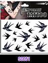 Tatueringsklistermärken - Non Toxic/Mönster/Ländrygg/Waterproof - Djurserier - till Vuxen/Tonåring - Svart - Papper - 1 - styck 16*17 -