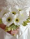 """Fleurs de mariage Forme libre Bouquets Mariage Rose / Rouge / Blanc Polyester / Mousse 6.3""""(Env.16cm)"""