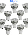 MORSEN Lampadas de Foco de LED GU10 5W 350-400 LM K Branco Quente / Branco Frio 10 pcs AC 85-265 V MR16