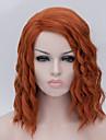 Europeiska och amerikanska mode brunt hår järn majs peruk