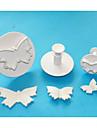 quatre c coupeurs grand papillon en plastique gateau fondant plongeurs, des outils de decoration de gateaux de haute qualite mis en