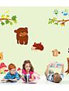 väggdekorationer Väggdekaler, barns tecknade djur paradis pvc väggdekorationer