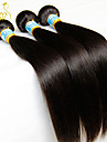 """3st mycket 8 """"-30"""" jungfru peruanska rakt hårwefts naturligt svart 1b # billig 5a remy människahår väva buntar härva gratis"""