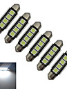 1.5W Festoon Lumini Decorative 4 SMD 5050 80-90lm lm Alb Rece DC 12 V 6 bc