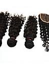 """4pcs lot 10 """"-28"""" les ventes d\'usine de cheveux remy non transformes profonde de vague bresilienne de cheveux naturelle de l\'homme d\'armure noire"""