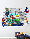 3D Wall Stickers Wall Decals, Super Mario PVC Wall Stickers