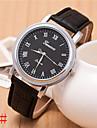 bande de cuir quartz analogique alston hommes de montre decontracte (couleurs assorties)