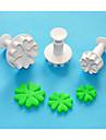quatre c coeur en forme de coeur coupe sugarcraft de piston en plastique Set 3, gateau classique outils de decoration