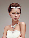 Gorgeous Rhinestones Titanium Jewelry Sets/Necklace with Earrings with Head piece