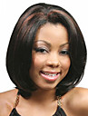 Femme Perruque Synthetique Sans bonnet Court Raide Noir Raie Centrale Perruque afro-americaine Pour Cheveux Africains Coupe Carre