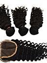 """4pcs lot 10 """"-28"""" extensions de cheveux humains de vente chaud peruvien avec le grade de fermeture 6a excellente cheveux remy vierge en"""