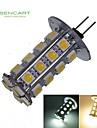 6W G4 LED-spotlights T 30 SMD 5050 550-650 lm Varmvit / Kallvit Dekorativ DC 12 V 1 st