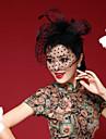 קישוטי שיער/פרחים/כובעים/Birdcage Veils - נשים נוצה