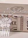 Femme / Jeune bouquetiere Alliage Casque-Mariage / Occasion speciale / Decontracte / Bureau & Carriere / Exterieur Peigne 1 Piece Argent