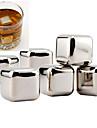 10 st / lot rostfritt stål whisky stenar vagga isbitar täljsten drink frys