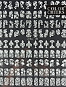 108pcs gemengde bloempatroon witte nail art stickers