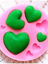 bakeware silikon hjärta bakformar för fondant godis chokladkaka