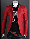 MEN - Costume & Blazere ( Bumbac/Raion ) Vintage/Informal/Petrecere/Muncă Mânecă Lungă