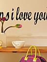 PS Jag älskar dig Väggdekal zooyoo8180 dekorativa DIY adesivo de parede löstagbar vinyl väggen klistermärken