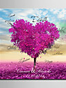 E-HOME® Personalized Signature Canvas Frame-Purple Love Tree