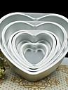 5 pouces gateau de forme amour de metal de coeur moule amovible fond de moule en direct de la patisserie