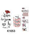 14Pcs/Sheet Nail Art Sticker 3D Nagelstickers Tecknat / Vackert makeup Kosmetisk Nail Art Design
