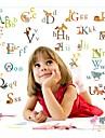 alfabetet plantskola inredning väggdekorationer för barnrum zooyoo877 dekorativa flyttbar pvc väggdekaler