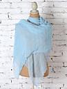 Women Summer Scarf 100% Cotton Shawl Fold Plain Colour Soft Scarf