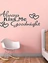 alltid kyssa mig goodnight citationstecken zy8053 adesivo de parede vinyl väggdekorationer heminredning väggmålning konst