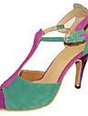 Chaussures de danse(Multicolore) -Personnalisables-Talon Personnalise-Daim-Latine Salsa Chaussures Standard
