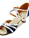 personalizzare le prestazioni di scarpe da ballo in similpelle / paillette scarpe superiore latino per le donne