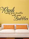 vägg dekaler vägg dekaler stil tvätta bort dina bekymmer engelska ord&citerar pvc väggdekorationer