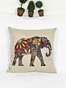 creative couverture taie d\'oreiller canape decoration de la maison de coussin de style d\'elephant (17 * 17 pouces)