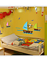 apa söker dröm båtlivet i havet väggen dekaler zooyoo7043 flytt pvc djur väggdekorationer dekorativa DIY