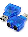 USB 2.0 au connecteur de l\'adaptateur ps2 ps / 2 de convertisseur pour pc souris bleue du clavier