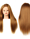 yaki syntetisk hår salon kvindelige mannequin hoved med make-up