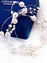Mulheres Perola Capacete-Casamento / Ocasiao Especial Flores 1 Peca Vermelho / Branco