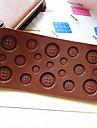 button shaped godis choklad muffins bakning mögel mögel (slumpvis färg)